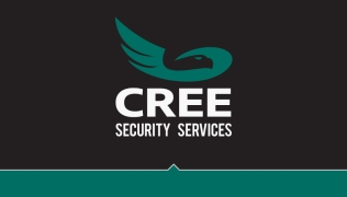 Graphisme carte professionnelle Cree security services
